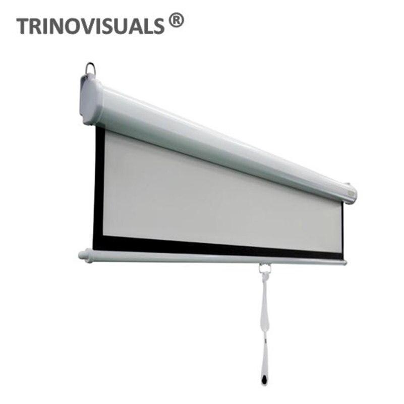 M2LJW120, 1610, 120 pulgadas, pantalla de proyector Manual extraíble con bloqueo automático, Cine en Casa 4K Ultra HD 3D listo