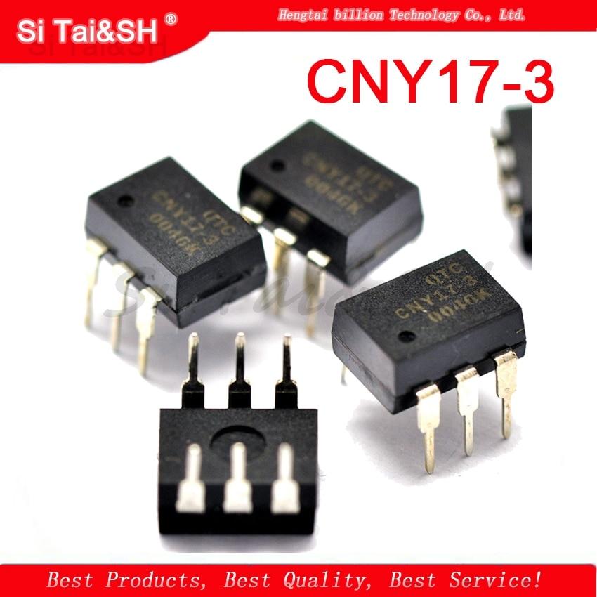 10 шт. CNY17-3 DIP6 CNY17 транзистор выход оптопары NPN фототранзистор новый оригинальный