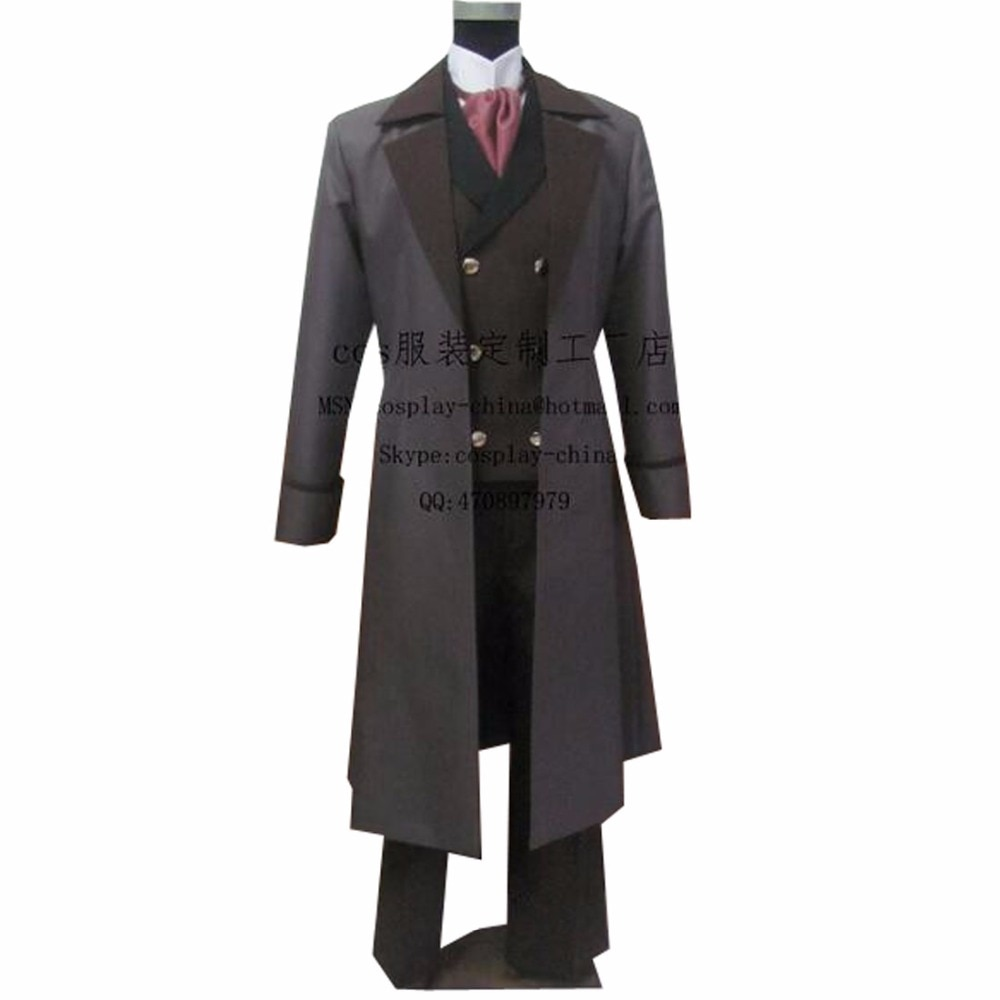 2018 de alta calidad Kuroshitsuji negro Butler sénior Michael Cosplay disfraz adulto tamaño