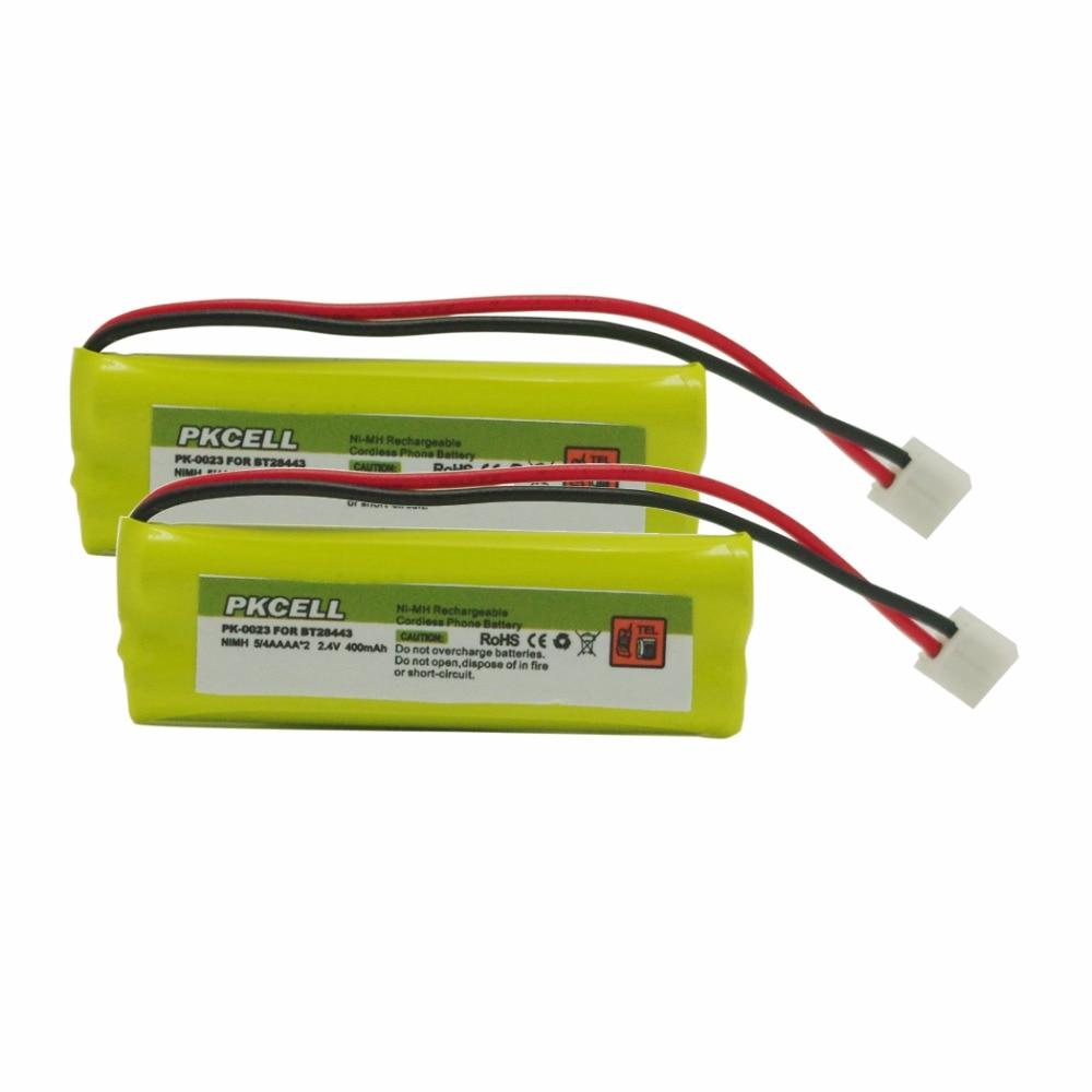 2 шт. PKCELL 2,4 V 400mAh беспроводной телефон Ni-MH домашний телефон батарея для CPH-518D/BT-28443/BT-18443