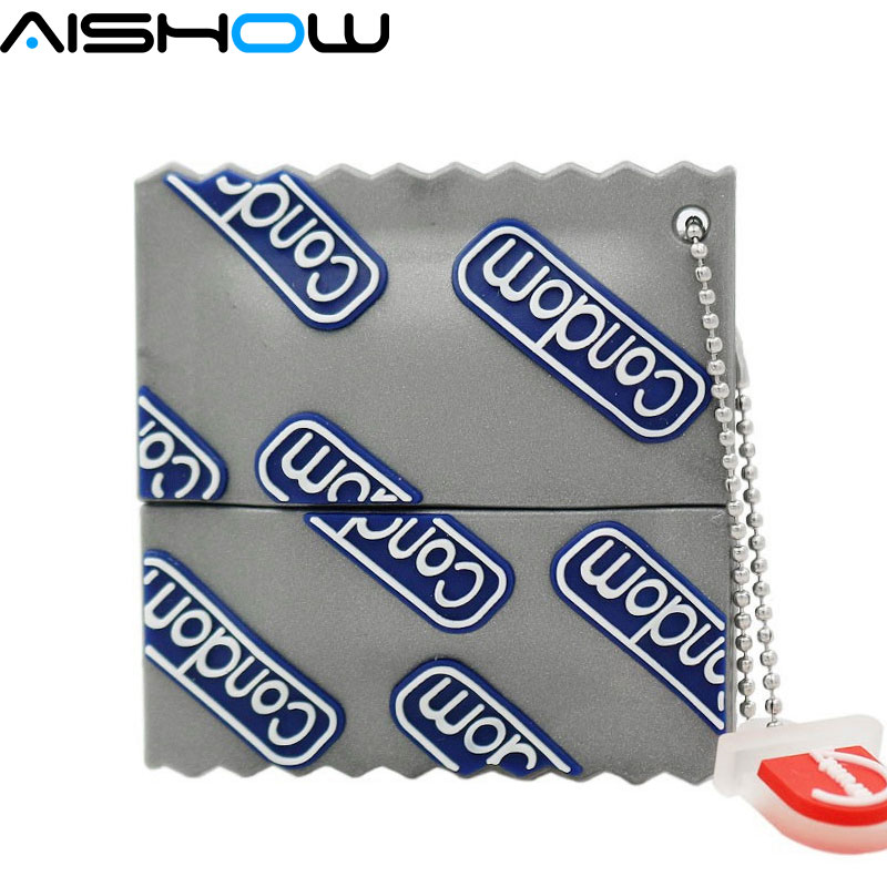 Caliente nuevo condones pen drive con dibujo animado pendrive 1gb 2gb 4GB/8GB/16GB/32gb...