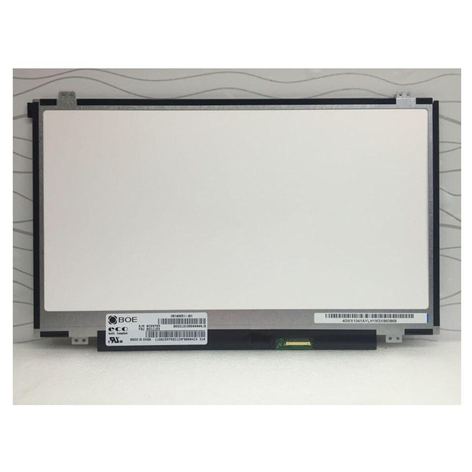 "Для BOE HB140WX1 301 светодиодный экран ЖК-дисплей Матрица для ноутбука 14,0 ""HD 1366X768 30Pin матовая Замена"