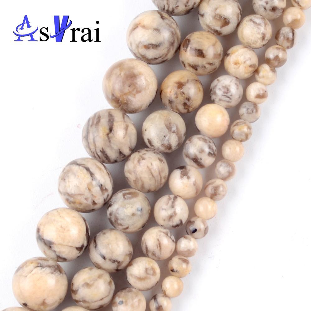 Natural Australia zebra Jaspers Stone Beads for Jewelry Making 4mm-10mm Spacer Round Beads Diy Handm