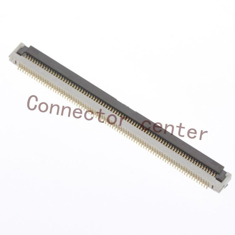 الأصلي الشركة العامة للفوسفات/FFC زيف موصل هيروس ساعة 0.5 مللي متر الملعب 80Pin 1.8 مللي متر ارتفاع وحيد الجانب الوجه الأمامي FH31H-80S-0.5SH