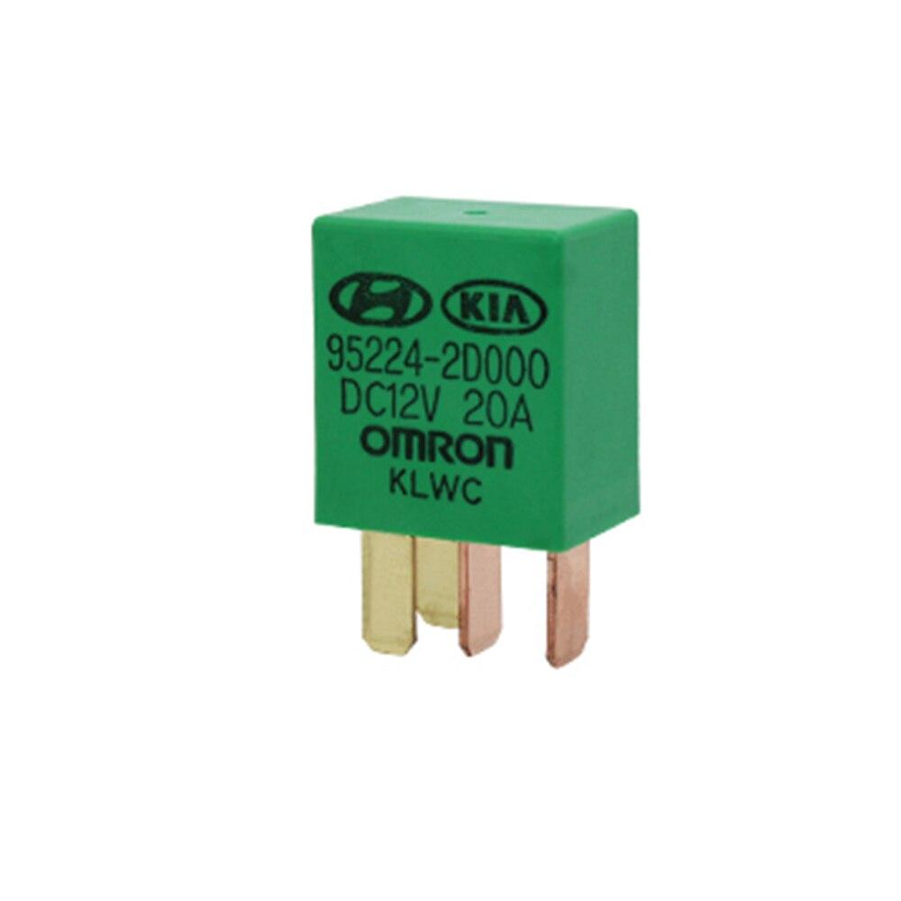 1 stück Auto Violet Relais für KIA 12 v 20A OMRON 4 Pins Grüne Farbe Power Relais Montage