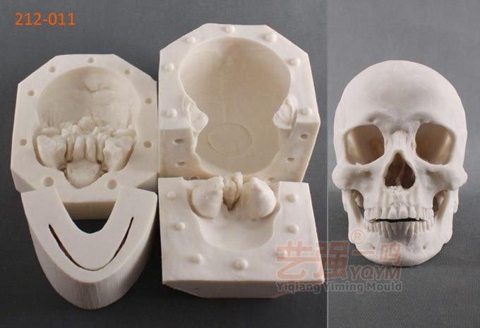 1:1 الحجم الفعلي الجمجمة ثلاثية الأبعاد سيليكون فندان كعكة قوالب هالوين سلسلة الجمجمة DIY بها بنفسك ديكور المزخرف قالب الكعكة أدوات الخبز FM463