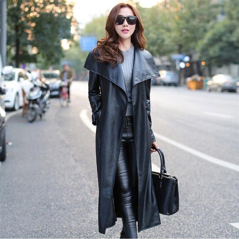 M-3XL Leather Jacket Women Fashion Leather Jacket Women Plus Size Casual Turn Down Collar Coat Jaqueta De Couro Feminino A1460