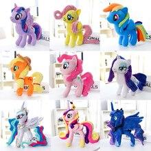 Wenig ponys Einhorn Twilight Sparkle Rainbow Dash Fluttershy Spike gefüllte plüsch puppe spielzeug abbildung puppen anime neue