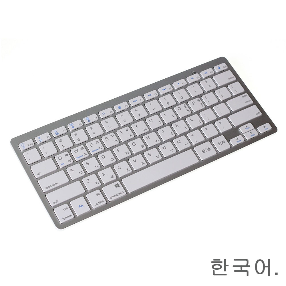 Mini teclado inalámbrico Bluetooth en inglés coreano para teléfono/Tablets/iPad Pro/Surface Pro compatible con Windows/Android/Mac