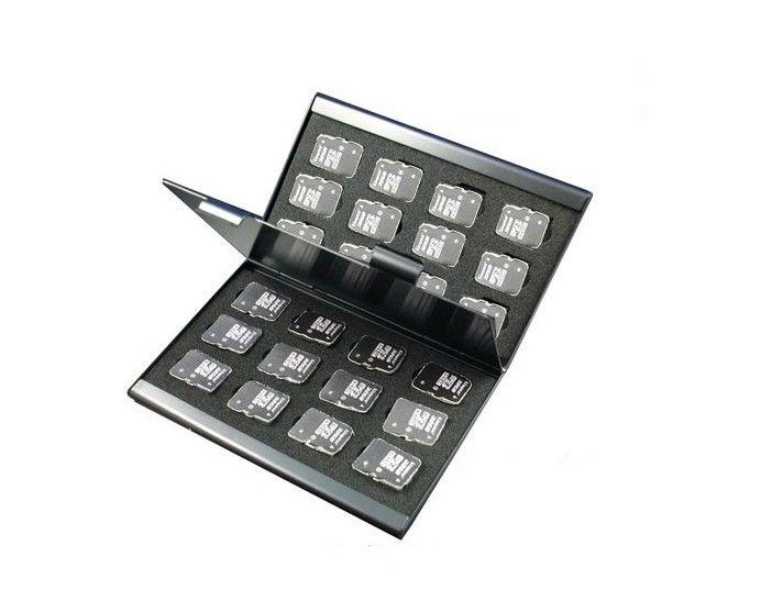 5 stücke microsd-karte fall Aluminium Speicherkarte Fall Tragbaren karte box halter für microsd-karte 24 stücke