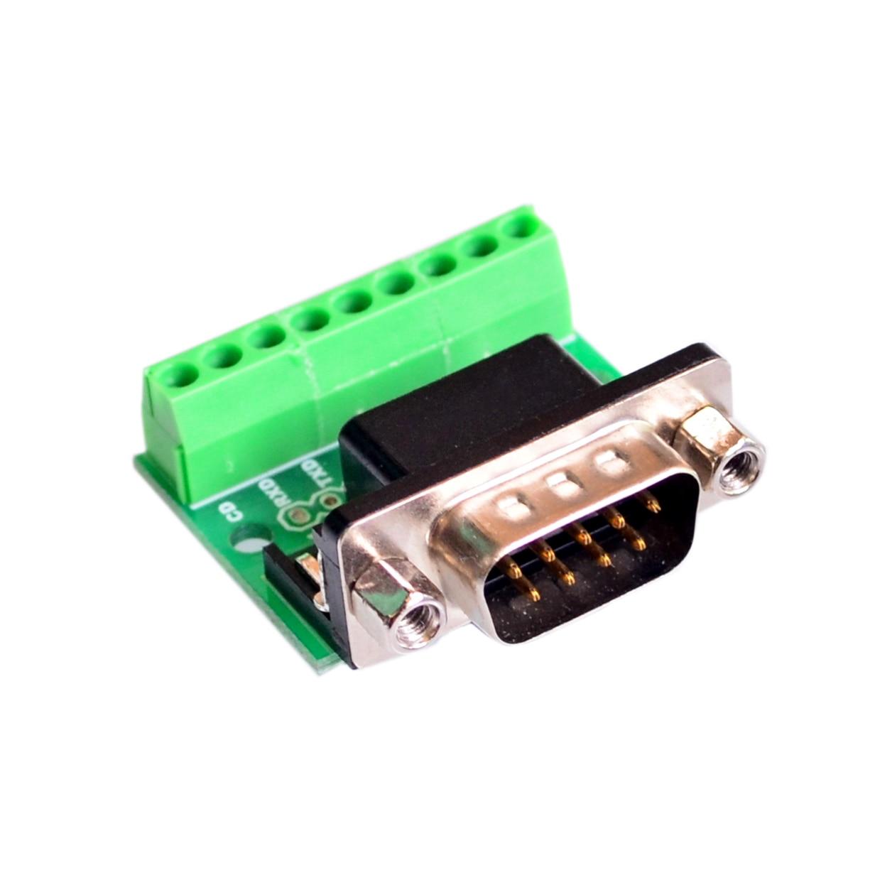 DB9 RS232 serie a Terminal conector adaptador macho tablero de ruptura negro + verde