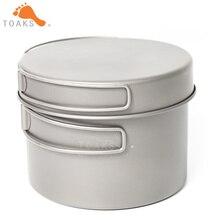TOAKS CKW-1300 titane extérieur Camping Pan randonnée batterie de cuisine sac à dos cuisson pique-nique bol Pot casserole ensemble avec poignée pliée