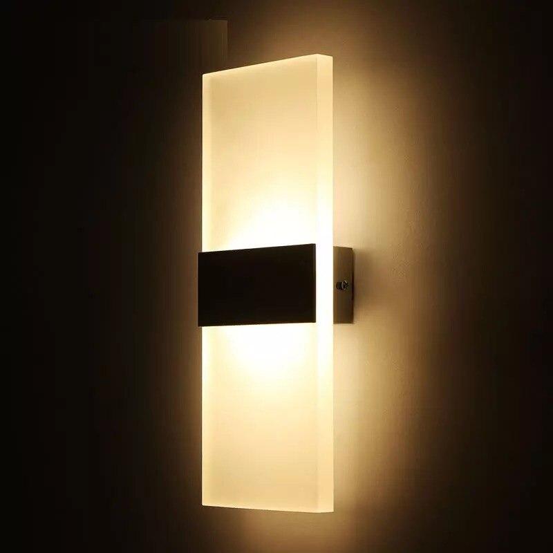 Luz de pared LED AC110V 220V iluminación interior hogar lámpara de noche para dormitorio Sala balcón de la cocina pasillo espejo lámpara frontal