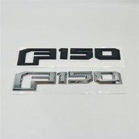 For Ford F150 F-150 Rear Gate Lid Emblem Black / Silver Logo Badge Sign Nameplate