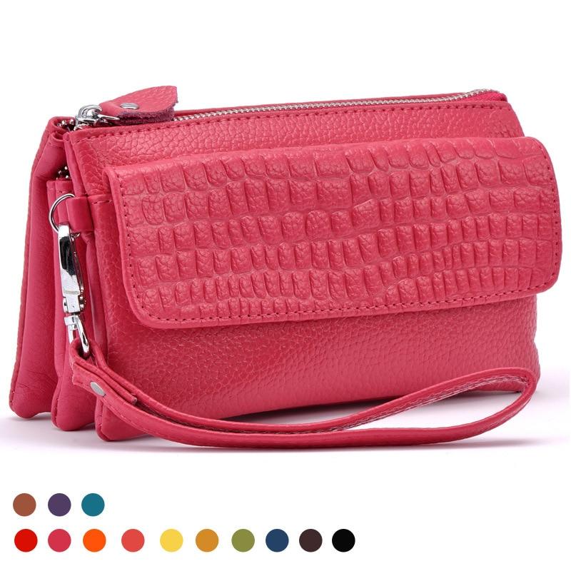 ¡Novedad de 052318! bolso de mano de día grande para mujer, bolsa para teléfono móvil, monedero para mujer