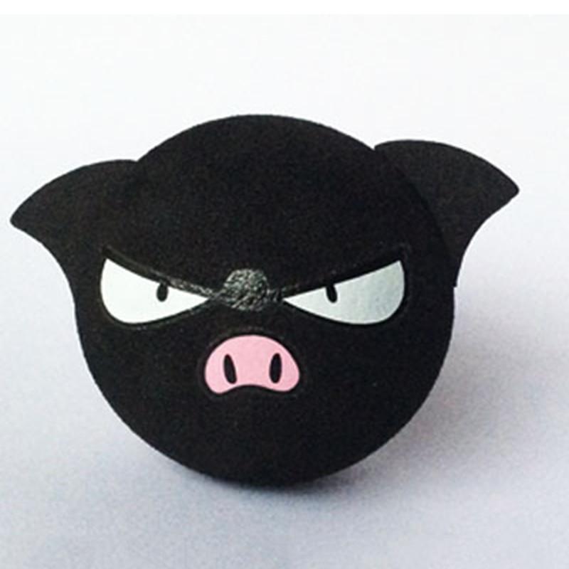 Черный поросенок, милое мультяшное Кукольное антенна, шар из пены EVA, воздушные верхушки, украшение, украшение для автомобиля, Стайлинг, укра...