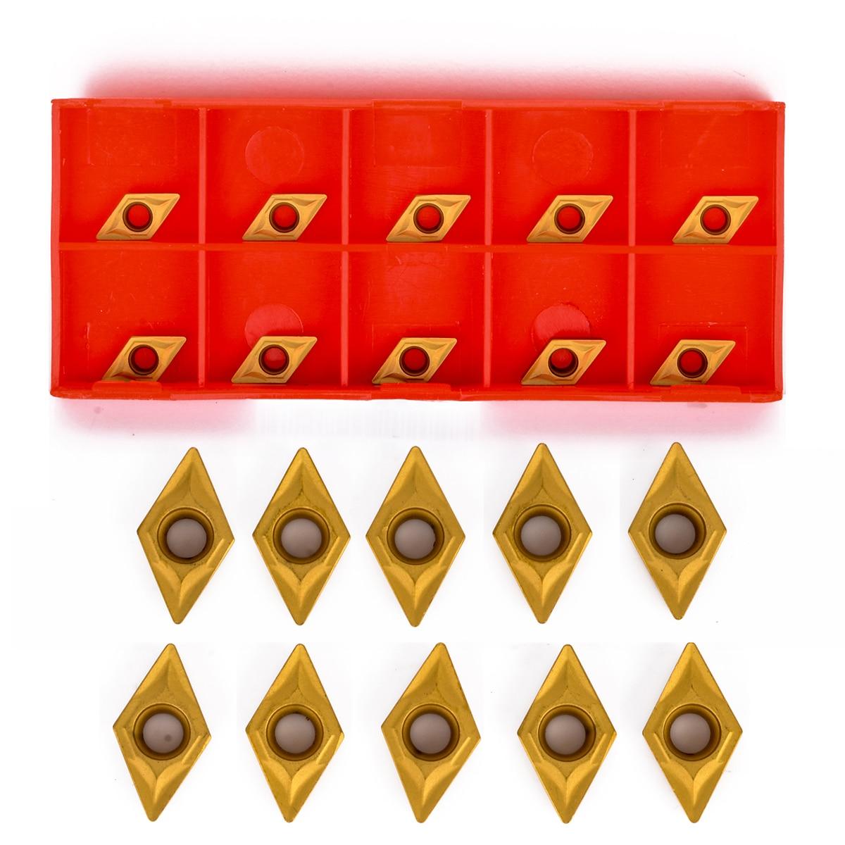 10pcs DCMT070204 YBC251 Carbide Inserts High Precision Turning Insert For Lathe Turning Tool Boring Bar