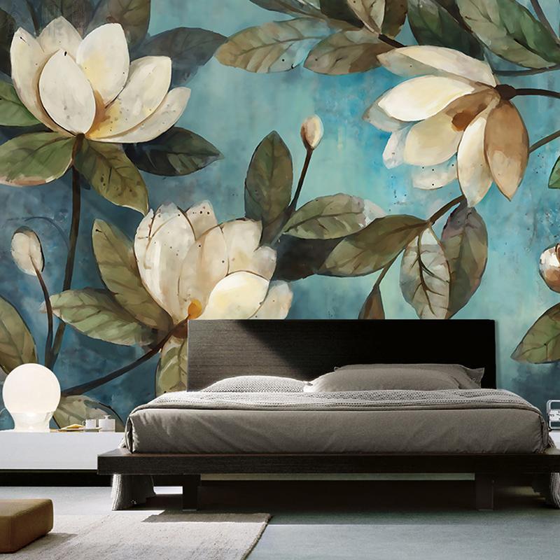 Papel de parede pintura personalizada europeia flores retro sala de estar tv fundos, papel de parede de entrada, quarto, não-tecido, cobertura de parede