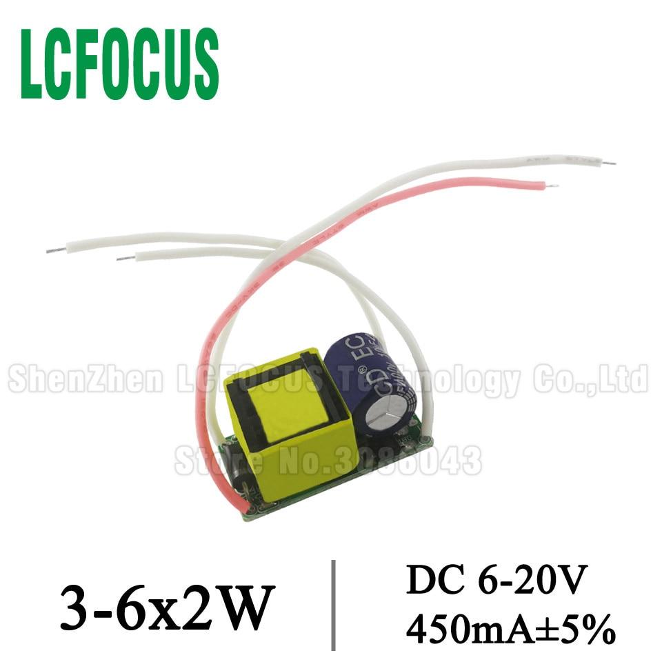 10 Uds. Controlador LED 3-6*2W AC85-277V a DC 6-20V controladores de corriente 450mA led 6W 8W 10W 12W transformador de iluminación para cuenta de luz de 2 vatios