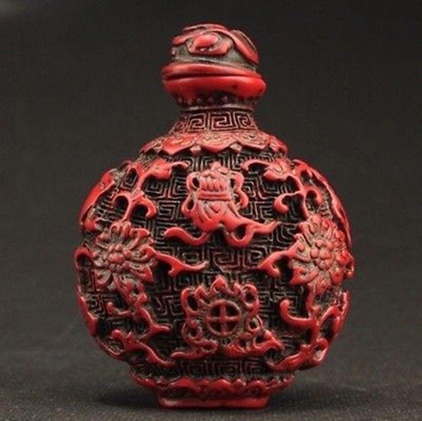 Bouteille de poisson en résine de corail rouge   Collectable, décoré et artificiel, fait à la main, fleur de poisson, or