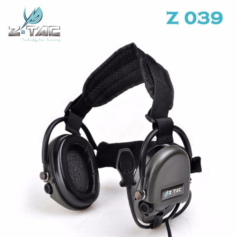 Z táctico TCI Libertador II de banda para el cuello de auriculares SMSR? Militar de Aviación auriculares Ztac Airsoft auriculares Z039