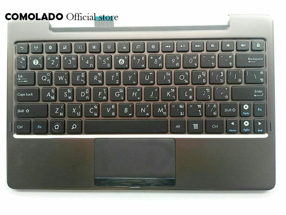 TI Thailan Laptop Keyboard For ASUS TF101 TF201 TF201T TF700T palmrest Upper cover Keyboard TI Layout