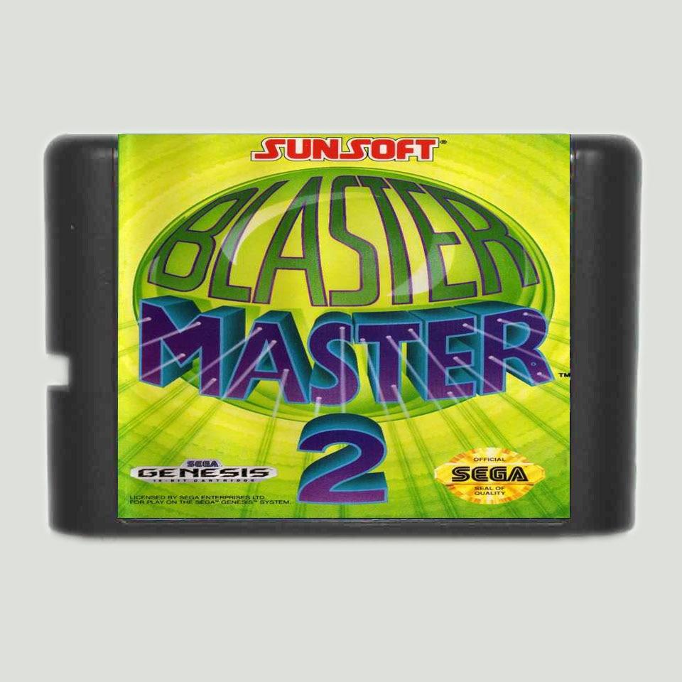 Blaster-tarjeta de juego Master 2, 16 bits, para Sega MegaDrive & Genesis...