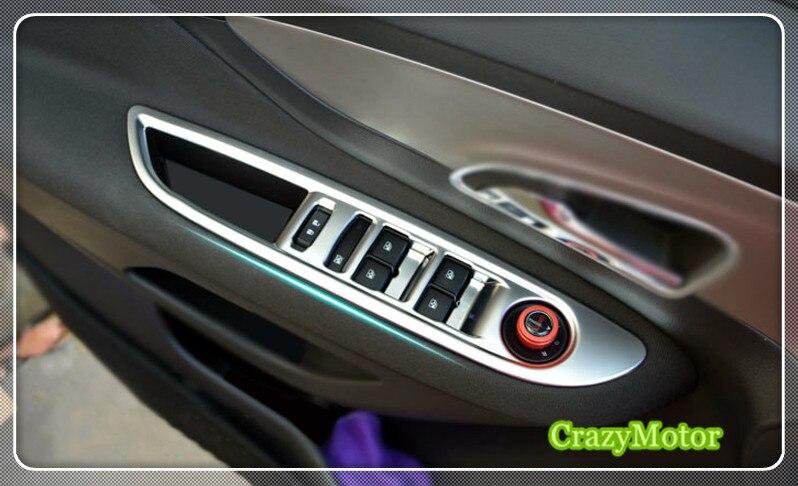 Para Vauxhall Opel Mokka 2013 2014 2015 2016 2017, cubierta de botón para ventana de coche, cubierta de cuadro de mandos, accesorios de estilo de coche