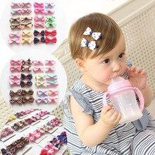 MIXIU-épingles à cheveux pour enfants   4 pièces/ensemble, accessoires de cheveux mignons pour bébés filles, couvre-chef, nœud avec ruban, Clips pour couverture complète