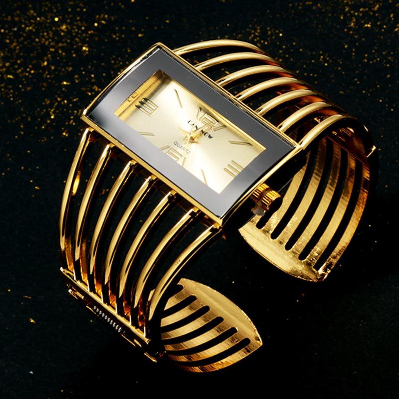 Женские наручные часы CANSNOW, часы-браслет из розового золота с ремешком под платье