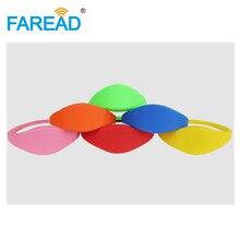 X100pièces-bracelet RFID 13.56MHz   Bracelet Ntag203, pour supermarché, parc de loisirs, parc à thème, livraison gratuite
