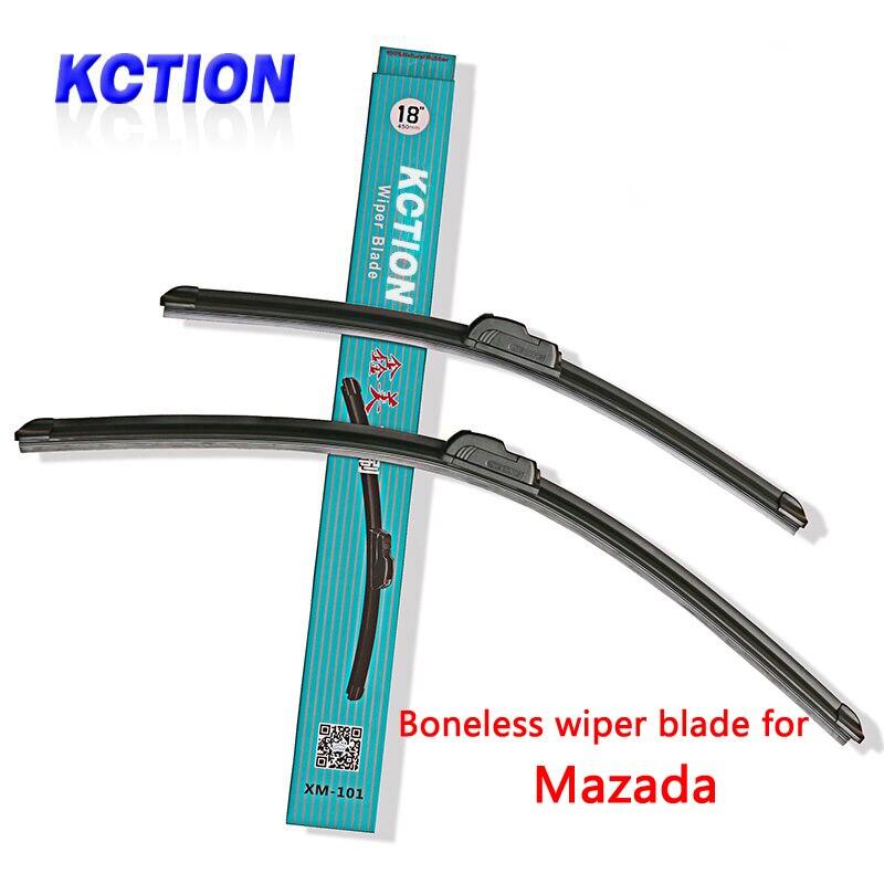 Kction escobilla limpiaparabrisas de coche para Mazda 2 3 Axela Mazda 5 mzada 6 CX-5 CX-7 MX-5 CAUCHO Natural Bracketless accesorios para coche
