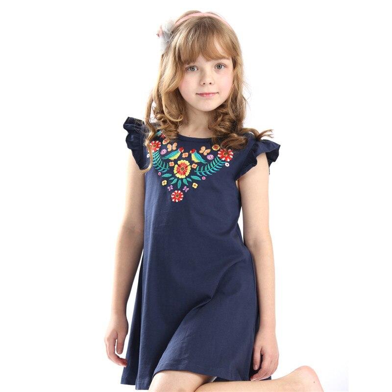 Little bitty-robe dessin animé sans manches   Ensemble avec des appliques, quelques oiseaux et fleurs mignons, pour bébés filles, offre spéciale, robe dété, nouvelle collection