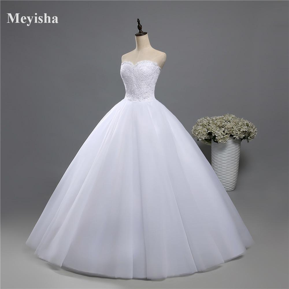 ZJ9022-فستان زفاف أبيض بدون حمالات ، مشد دانتيل ، مقاس كبير ، 2019 ، 2020 خرز ، كريستال ، زفاف ، عرائس