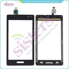 5 stks groothandel zwart touchscreen digitizer panel met frame vervanging voor lg optimus l9 p769 t-mobile gratis verzending