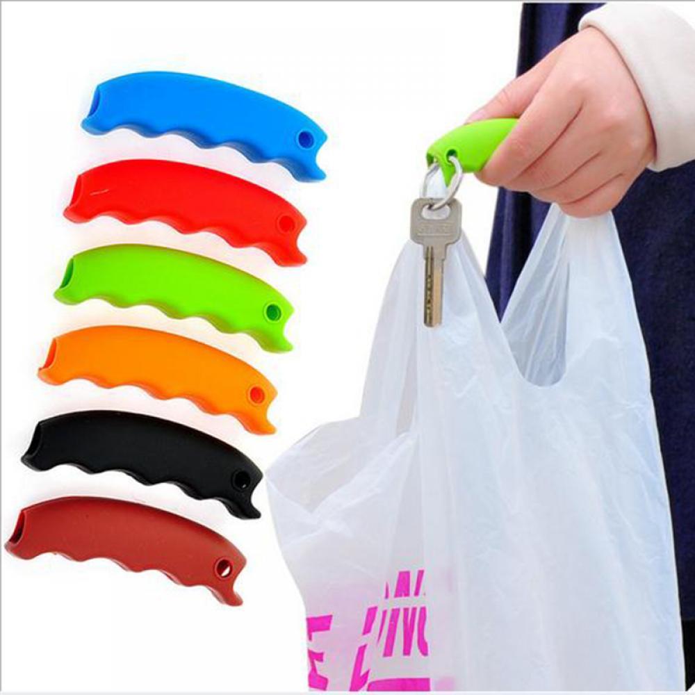 Silicone Hooks For Hanging Handbag Basket Shopping Bag Holder Carry Bag Handle Comfortable Grip Protect Hand Tools Dropshipping