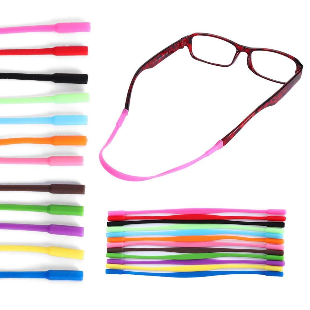 2Pcs Adjustable Silicone Glasses Sunglasses chain Eyeglasses Straps Sports Band Cord Holder Elastic