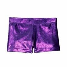 Convient corps lumineux costume Ballet gymnastique vêtements danse pratique porter un pantalon short fille noir violet rose rouge bleu serré