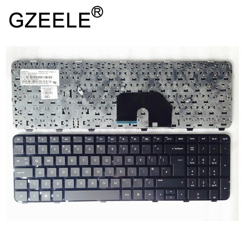 GZEELE جديد المملكة المتحدة لوحة المفاتيح السوداء ل HP DV6-6000 DV6-6100 DV6-6200 665937-031 665937031 V122630A11 QWERTY 15.6