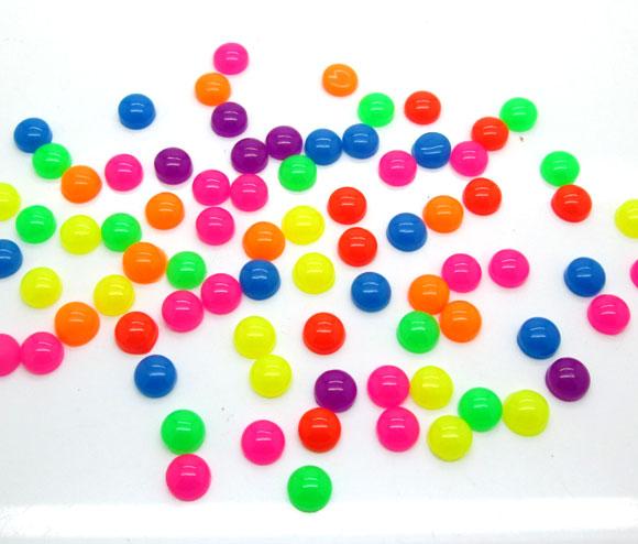 100Pcs 6mm Mixed Resin Round Decoration Crafts Kawaii Bead Flatback Cabochon Fridge Magnet Scrapbook DIY Accessories Buttons