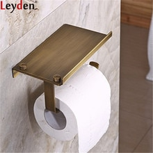 Leyden Antique Brass Wall Mounted Toilet Paper Holder Tissue Holder Roll Paper Holder Bathroom Accessories Phone Holder