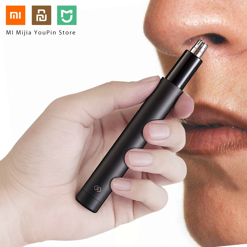 Xiaomi mijia elétrica mini nariz aparador de pêlos hn1 portátil orelha nariz máquina de cortar cabelo shaver à prova dwaterproof água seguro ferramenta mais limpa para mim