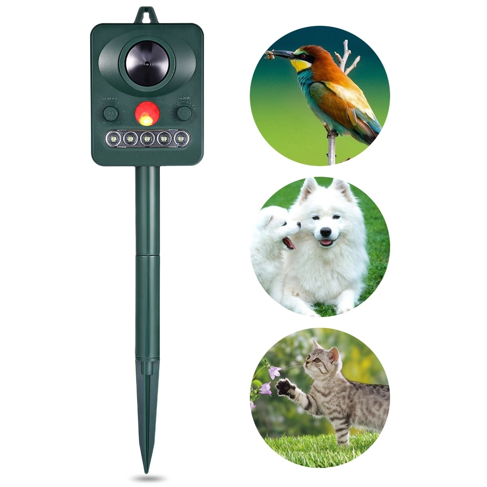 6 уровней солнечные инфракрасные Сенсор ультразвуковой животных Товары для птиц