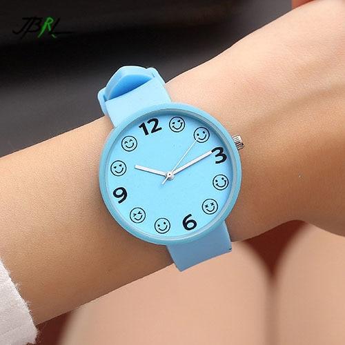 JBRL модные силиконовые женские кварцевые часы Женское платье наручные девушки