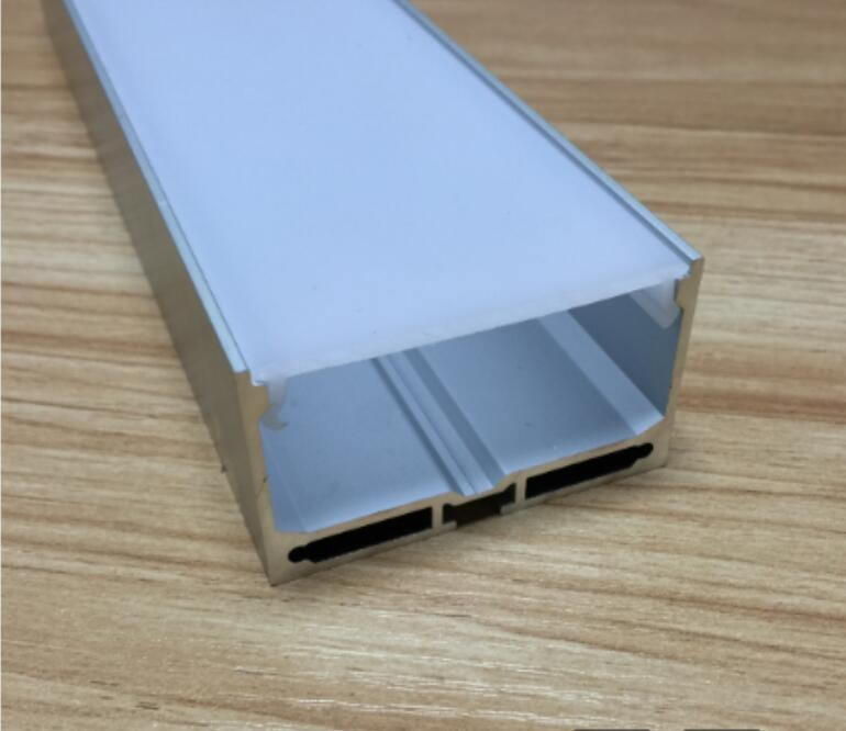Envío gratis 10 unids/lote 2 m/unids canal de aluminio para instalación de tira LED perfil de aluminio con tapa tapas terminales Clips de montaje