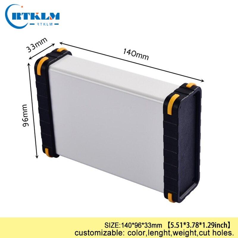 Алюминиевая коробка корпус для электроники DIY Распределительная коробка Алюминиевый Проект динамик корпус diy корпус инструмента 140*96*33 мм