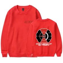 EXO new 2018 Kpop fashion letter printing O-neck long-sleeved fashion style sweatshirt casual shirt unisex sweatshirt