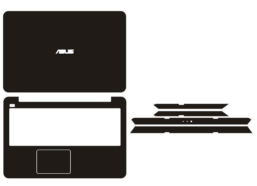 Pegatinas especiales de piel de vinilo de fibra de carbono para ASUS R558 R558UV R558UQ pantalla no táctil de 15,6 pulgadas