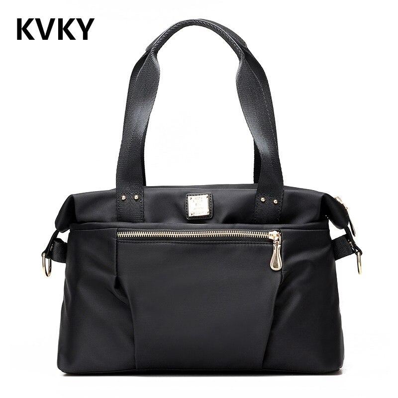حقيبة يد نسائية من النايلون ، حقيبة كتف ذات علامة تجارية شهيرة ، مجموعة جديدة