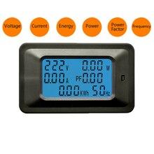 110-250 v 20a/100a medidor de energia do voltímetro do amperímetro de digitas monitor de frequência do fator de potência do medidor de corrente da tensão
